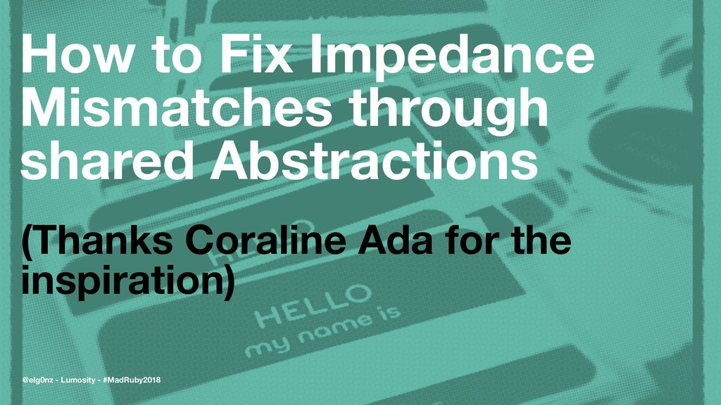 How to Fix Impedance Mismatches through shared ...
