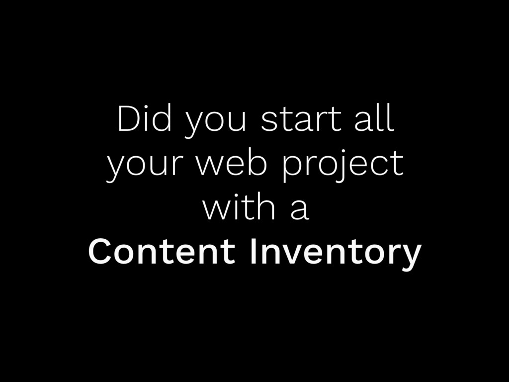 Did you start all your web project with a Conte...