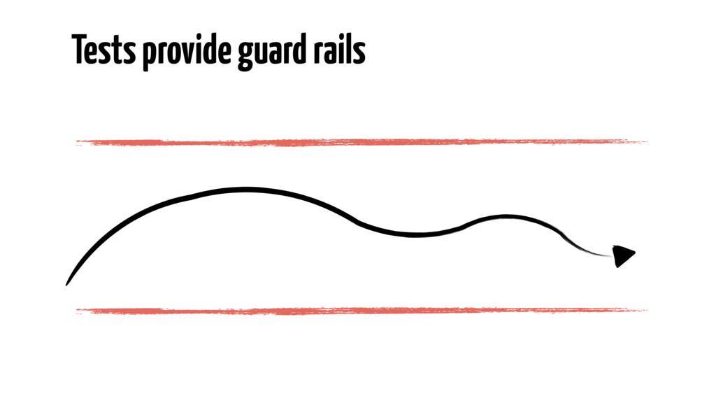 Tests provide guard rails