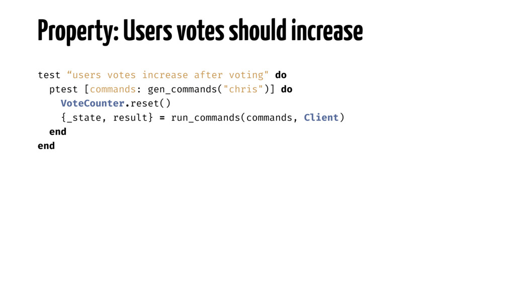 """Property: Users votes should increase test """"use..."""