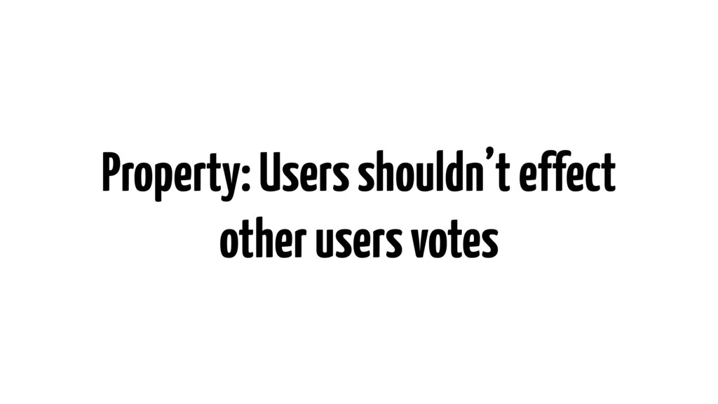 Property: Users shouldn't effect other users vo...
