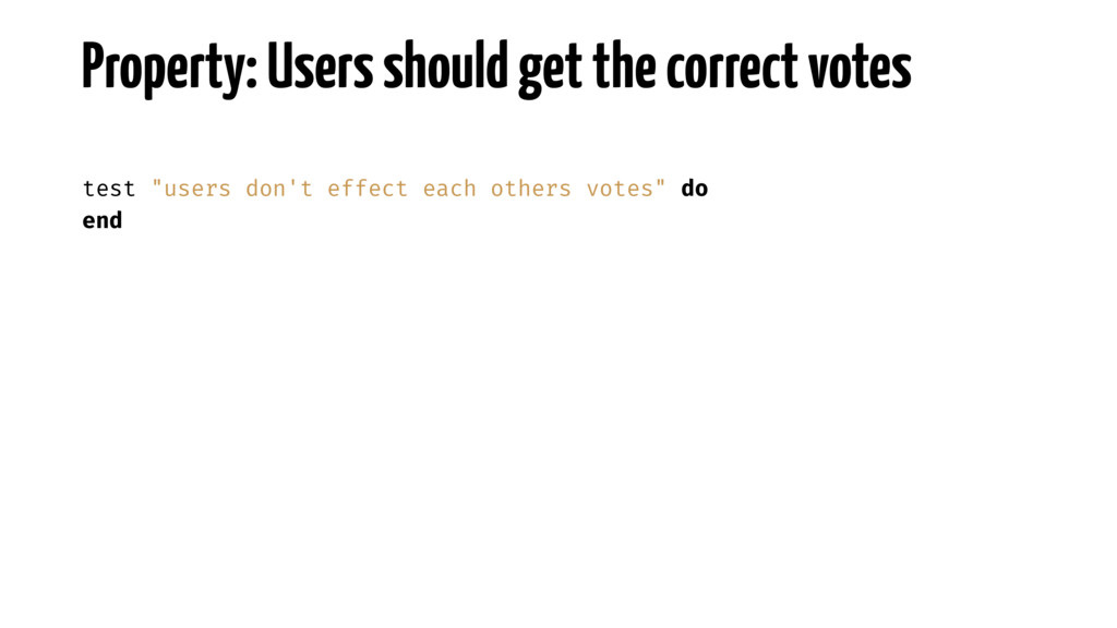 Property: Users should get the correct votes te...