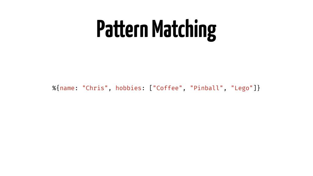 """Pattern Matching %{name: """"Chris"""", hobbies: [""""Co..."""