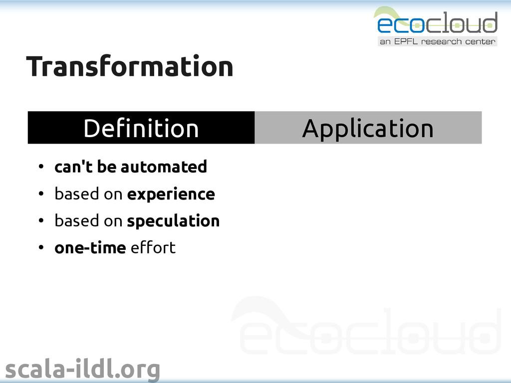 scala-ildl.org Transformation Transformation De...