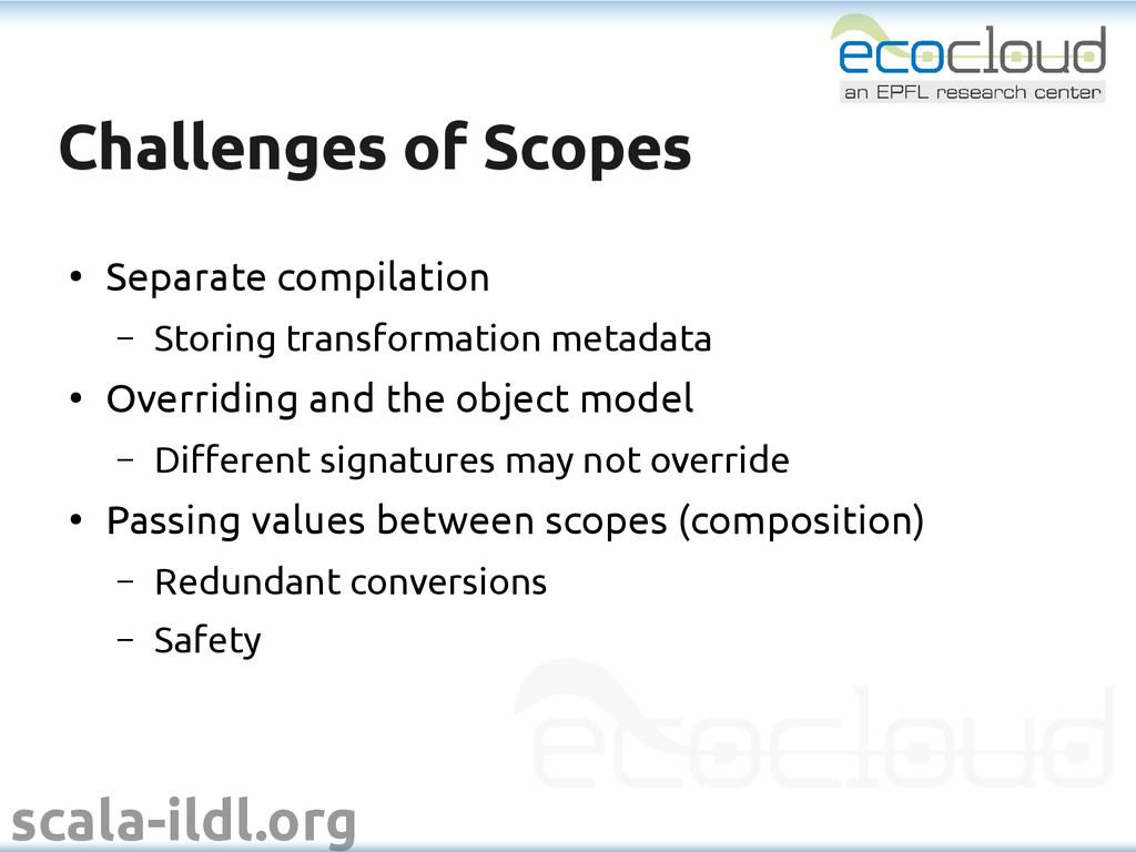 scala-ildl.org Challenges of Scopes Challenges ...