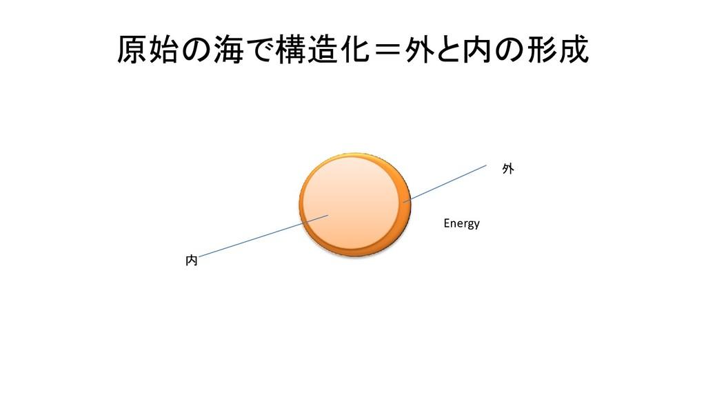 原始の海で構造化=外と内の形成 外 内 Energy