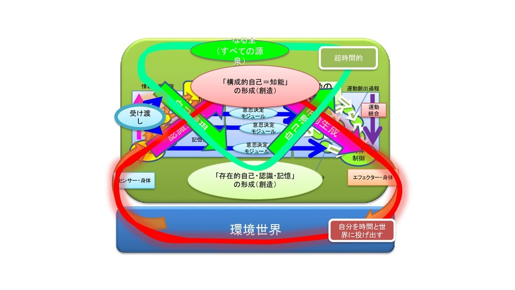 環境世界 認識の 形成 記憶 意思の 決定 身体 制御 エフェクター・身体 運動の 構成 セン...