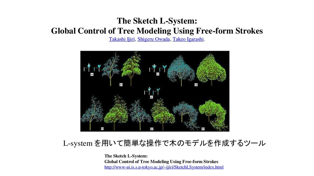 The Sketch L-System: Global Control of Tree Mod...