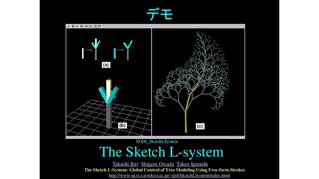 デモ The Sketch L-system SG06_SketchLSystem Takas...