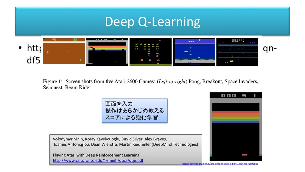 Deep Q-Learning • https://becominghuman.ai/lets...