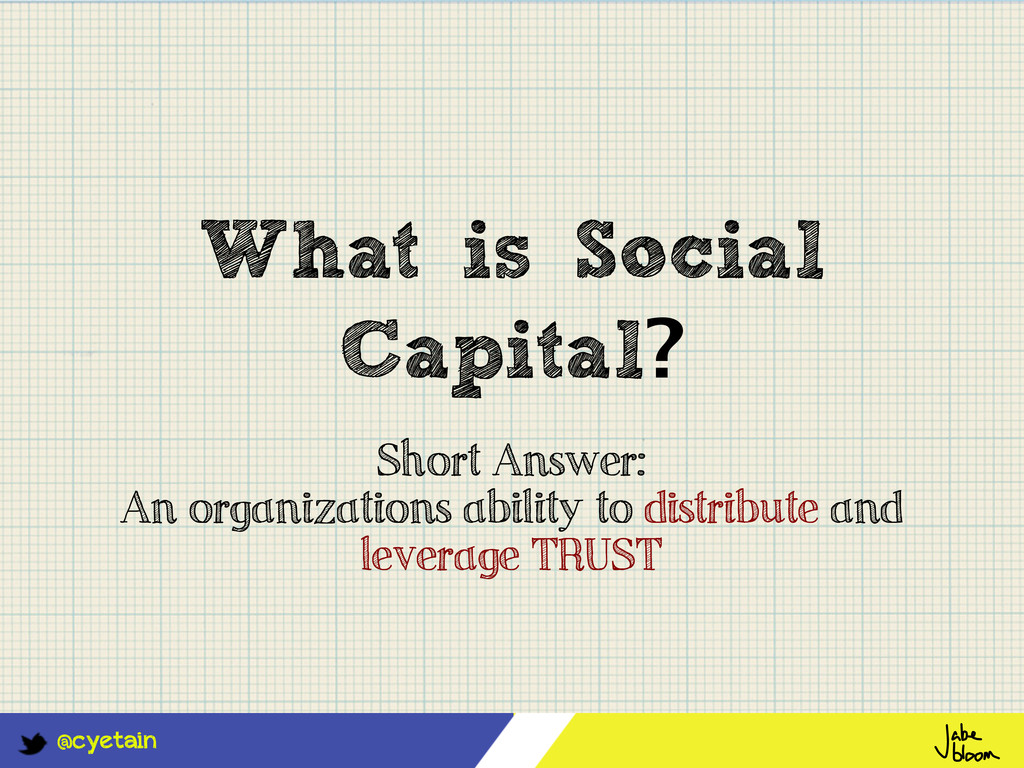 @cyetain What is Social Capital? Short Answer: ...
