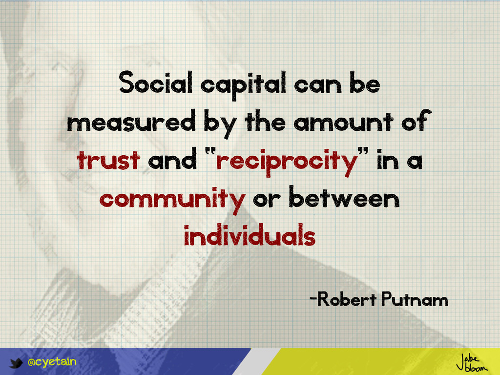 @cyetain Social capital can be measured by the ...