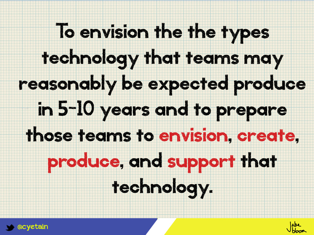 @cyetain T o envision the the types technology ...