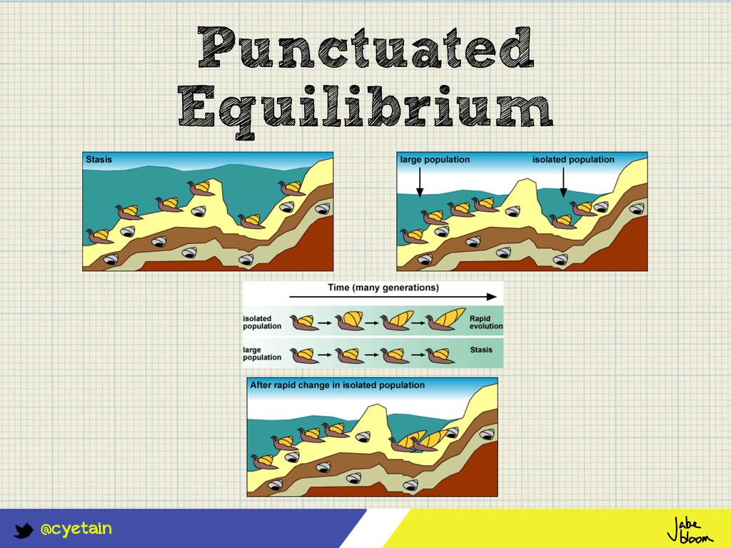 @cyetain Punctuated Equilibrium
