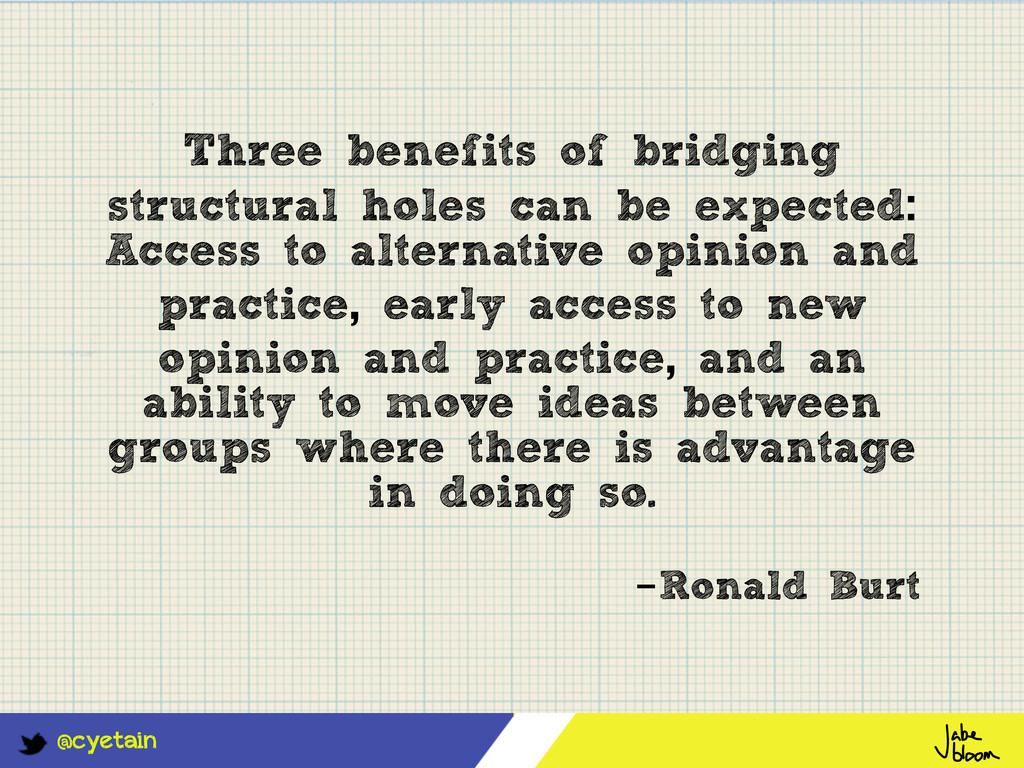 @cyetain Three benefits of bridging structural ...