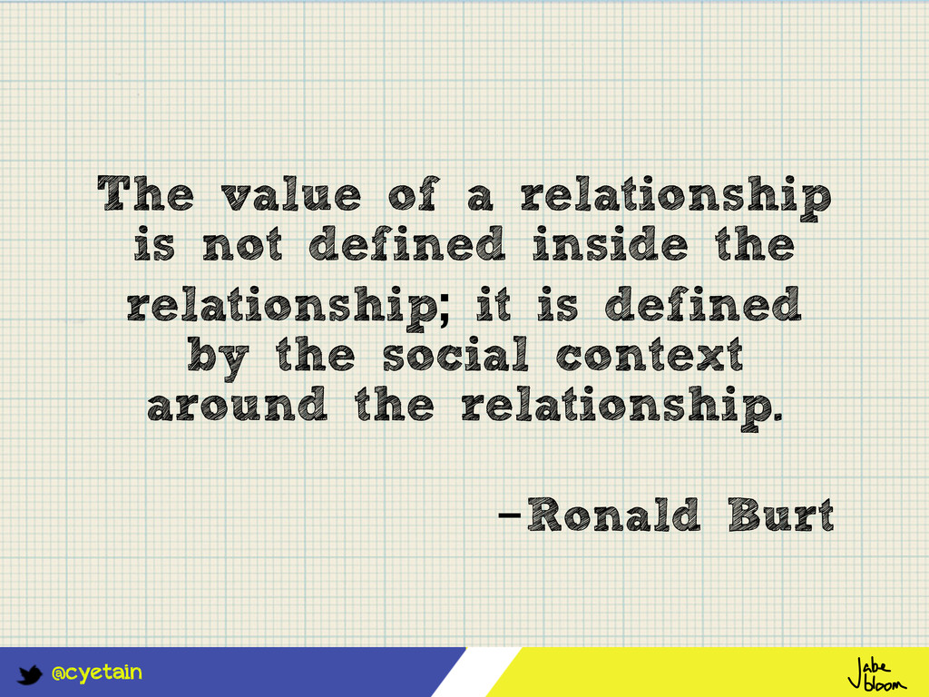 @cyetain The value of a relationship is not def...