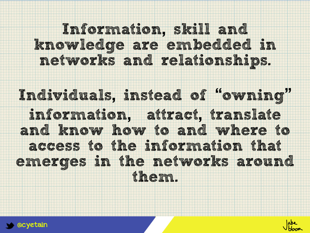 @cyetain Information, skill and knowledge are e...