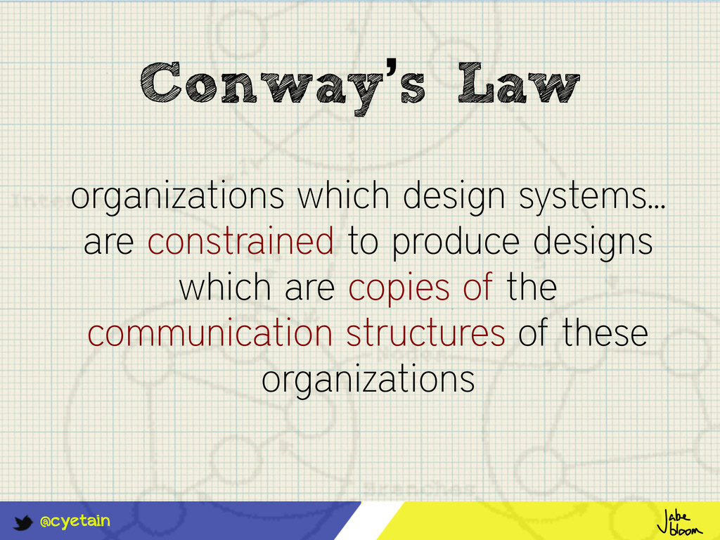 @cyetain Conway's Law organizations which desig...