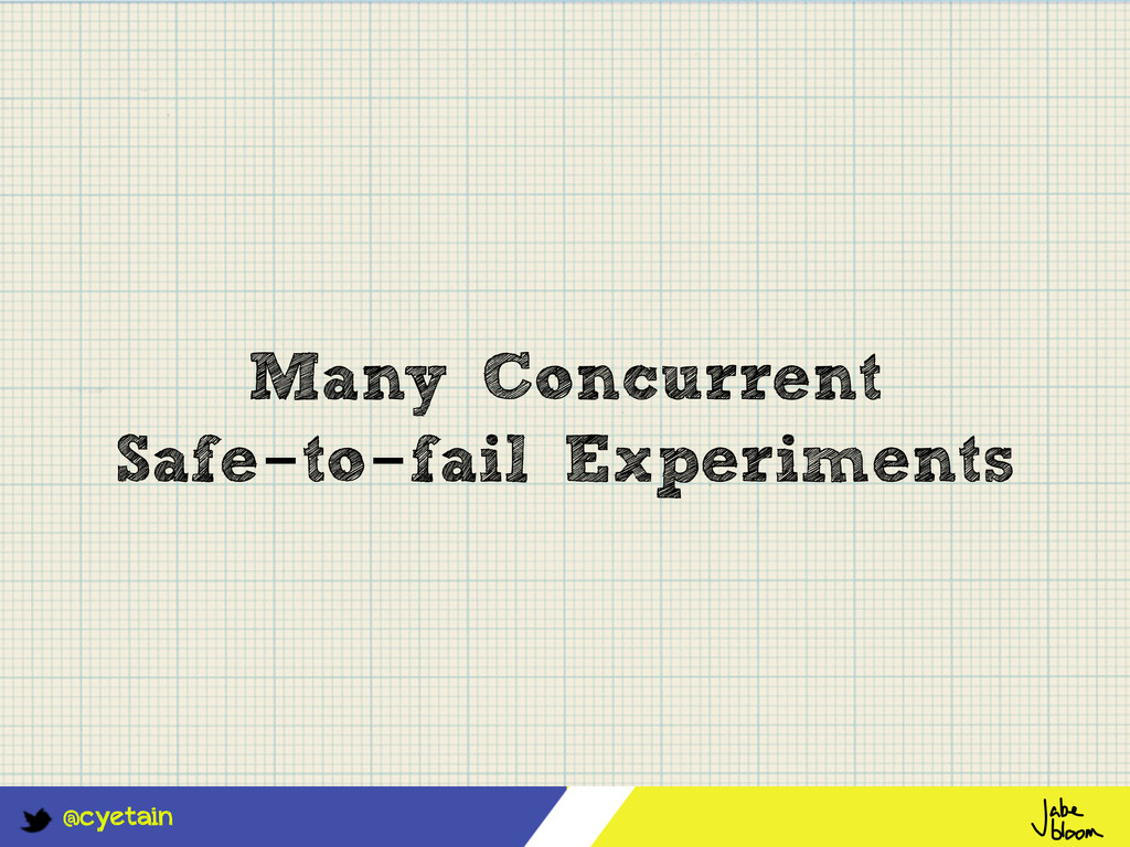 @cyetain Many Concurrent Safe-to-fail Experimen...