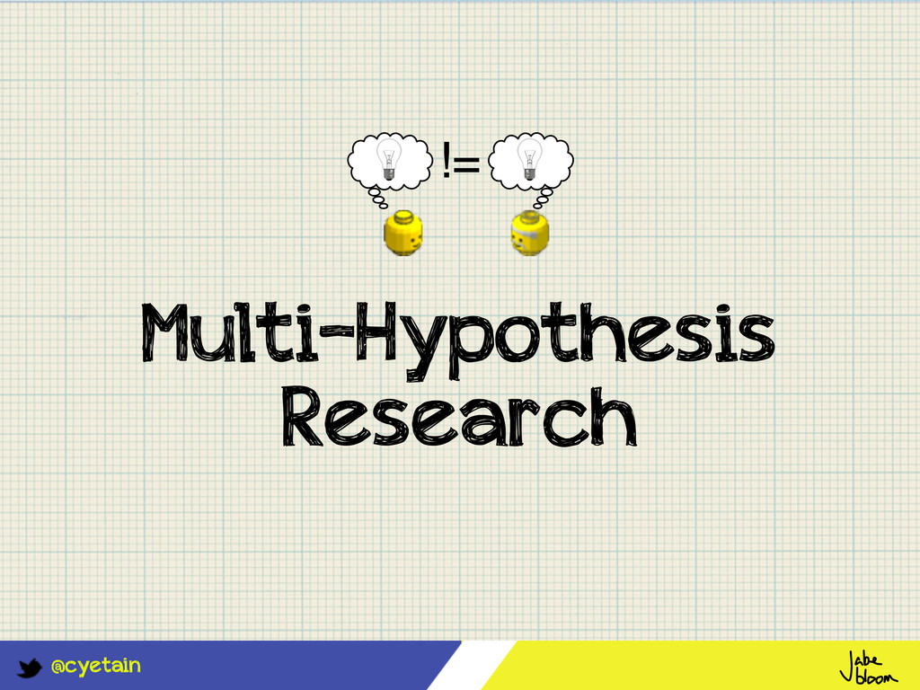 @cyetain Multi-Hypothesis Research !=