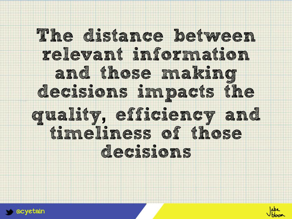 @cyetain The distance between relevant informat...