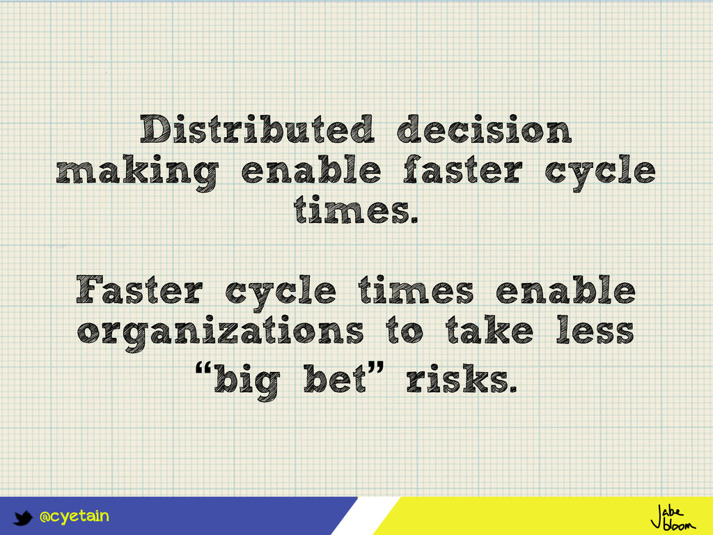 @cyetain Distributed decision making enable fas...