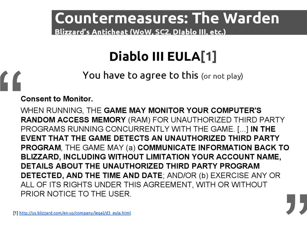 Consent to Monitor. WHEN RUNNING, THE GAME MAY ...