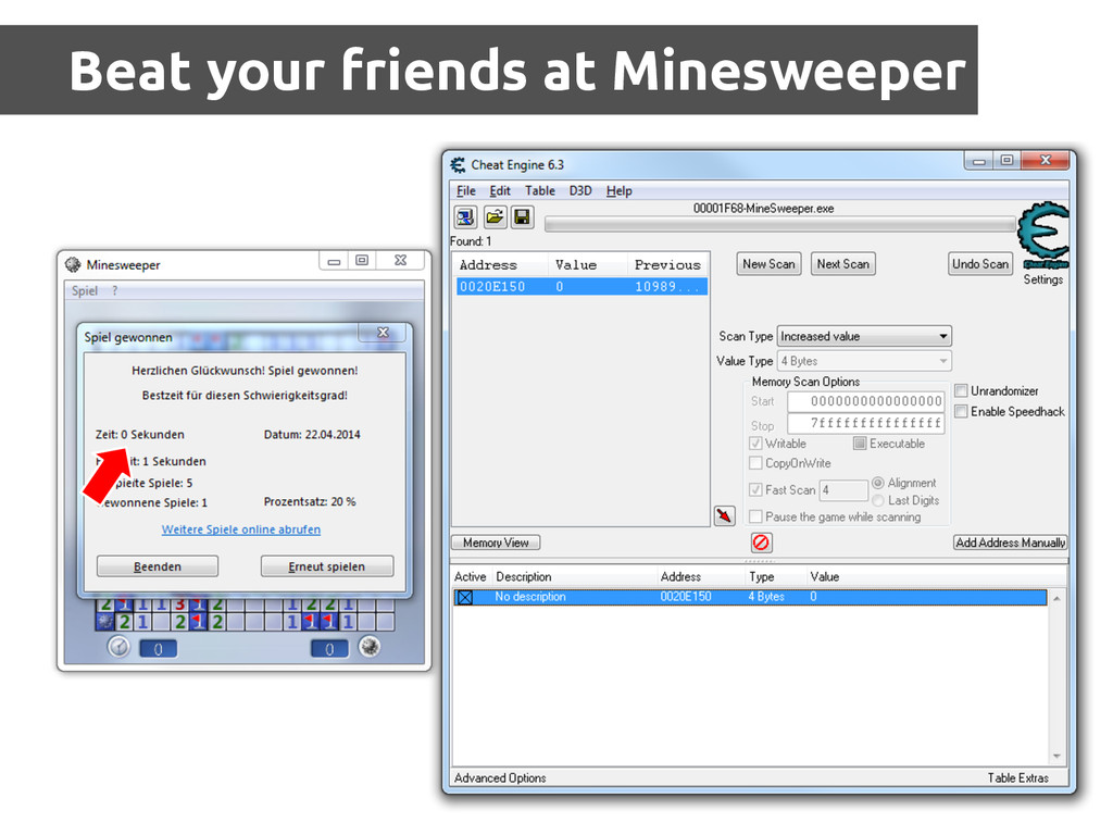 Beat your friends at Minesweeper