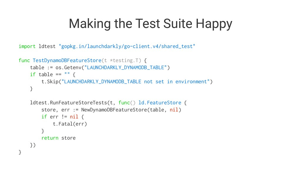 "Making the Test Suite Happy import ldtest ""gopk..."