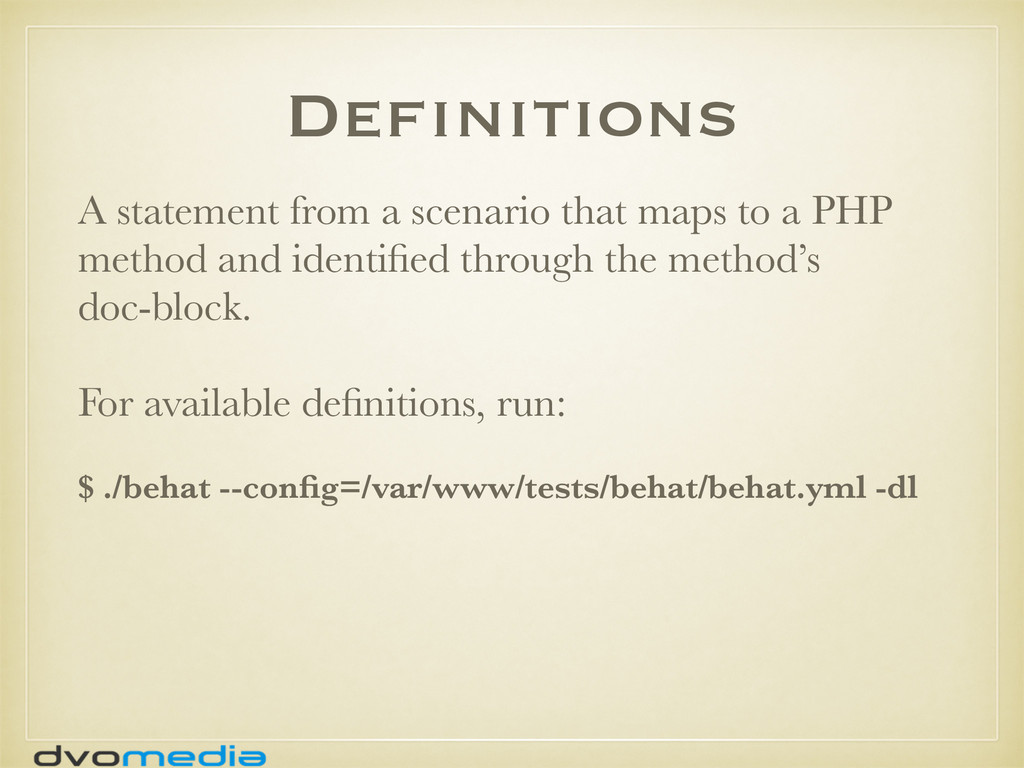 Definitions A statement from a scenario that ma...