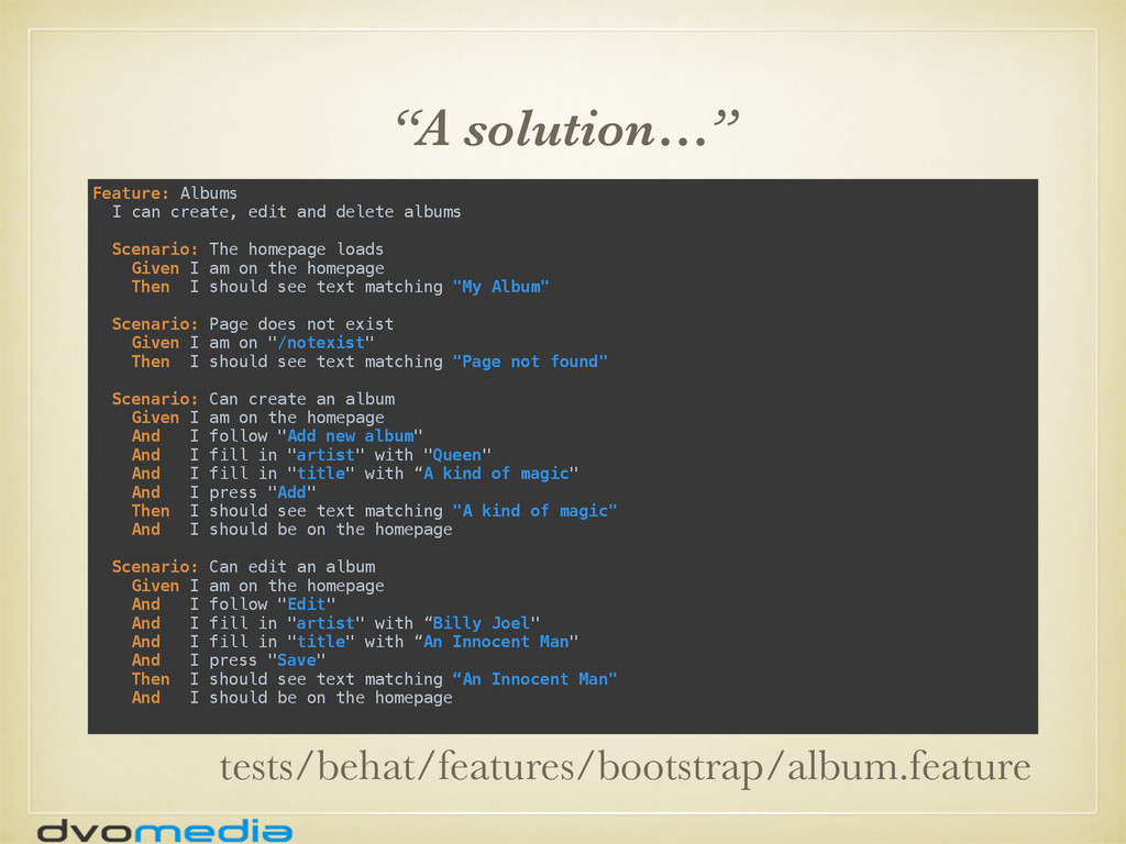 """""""A solution…"""" Feature: Albums I can create, ed..."""