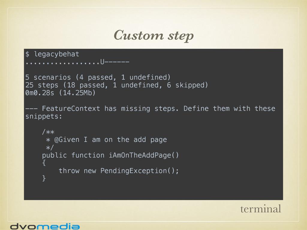 Custom step $ legacybehat ..................U--...
