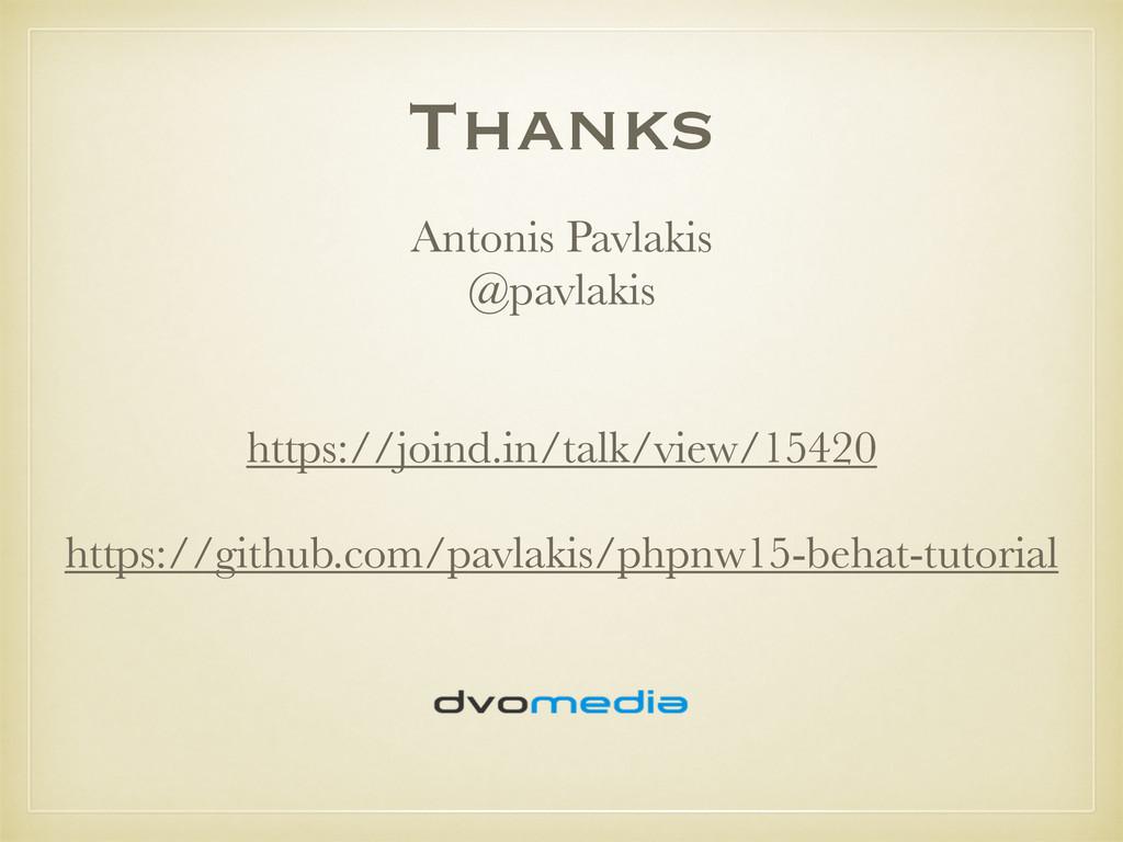 Thanks Antonis Pavlakis @pavlakis https://joind...