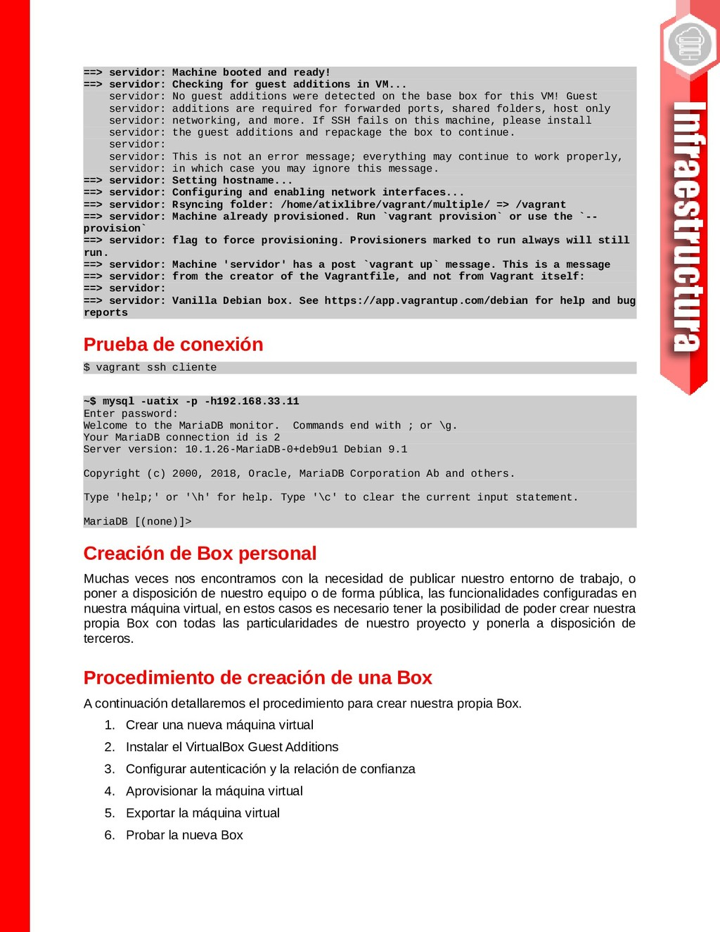 ==> servidor: Machine booted and ready! ==> ser...