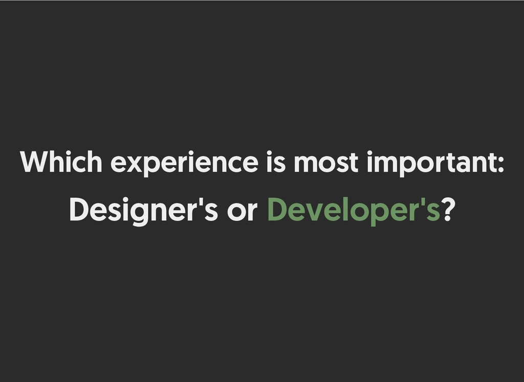 Which experience is most important: Which exper...