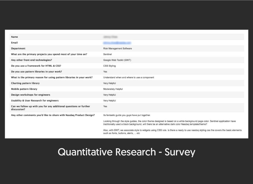 Quantitative Research - Survey
