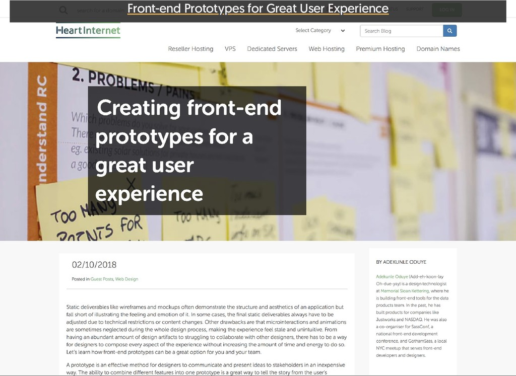 Front-end Prototypes for Great User Experience