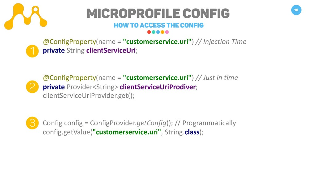 Microprofile Config How to access the Config 18...