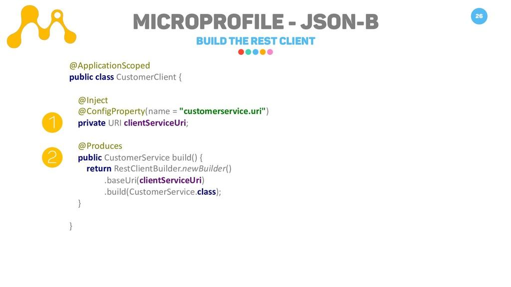 Microprofile - JSON-B Build the REST Client 26 ...