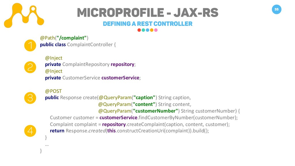 Microprofile - JAX-RS Defining a REST Controlle...