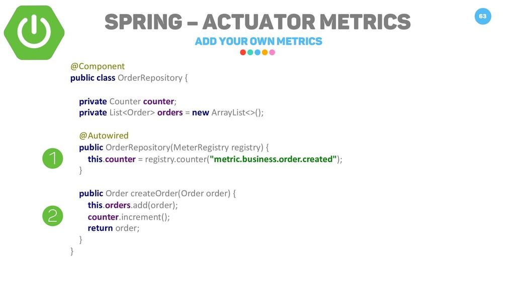 Spring – Actuator Metrics Add your own metrics ...