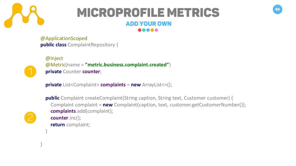 Microprofile METRICS Add your own 68 1 2 @Appli...