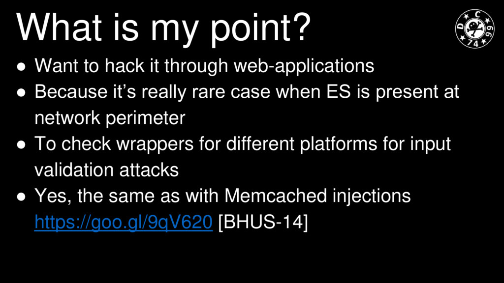 What is my point? ● Want to hack it through web...