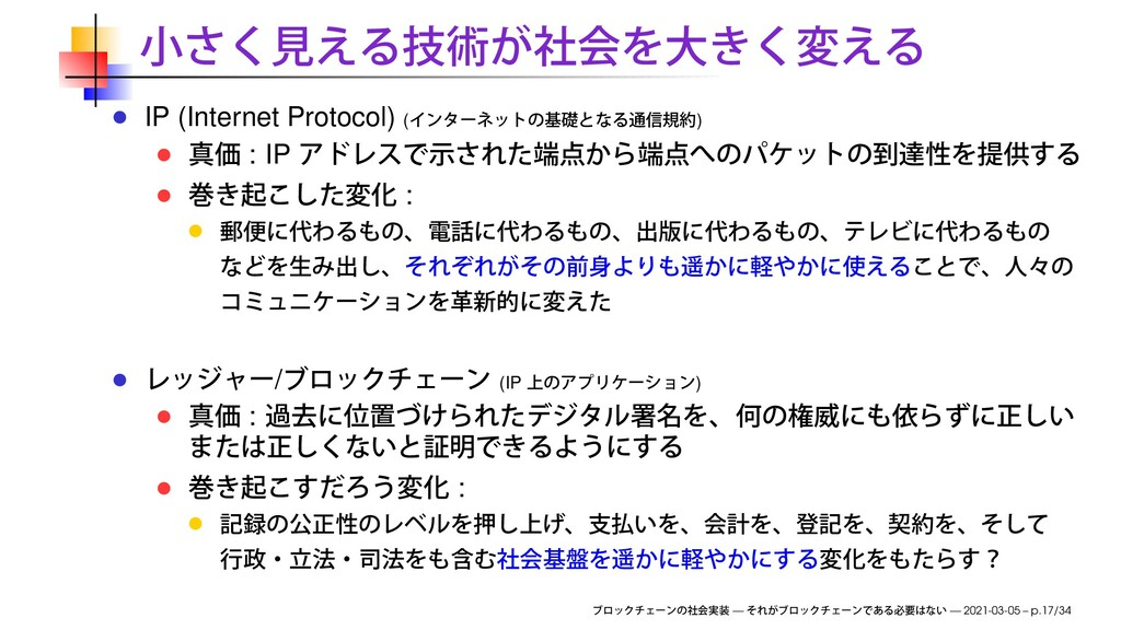IP (Internet Protocol) ( ) : IP : / (IP ) : : —...