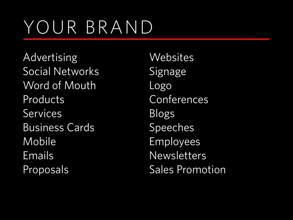 YOUR BRAND Advertising Social Networks Word of ...