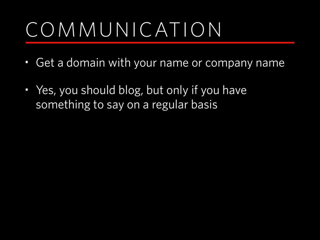 COMMUNICATION • Get a domain with your name or ...