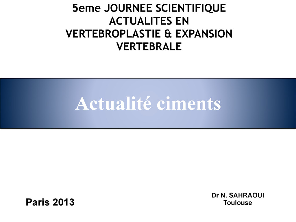 Actualité ciments 5eme JOURNEE SCIENTIFIQUE ACT...