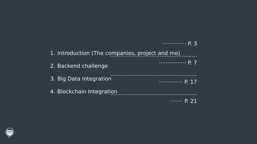 1. Introduction (The companies, project and me)...