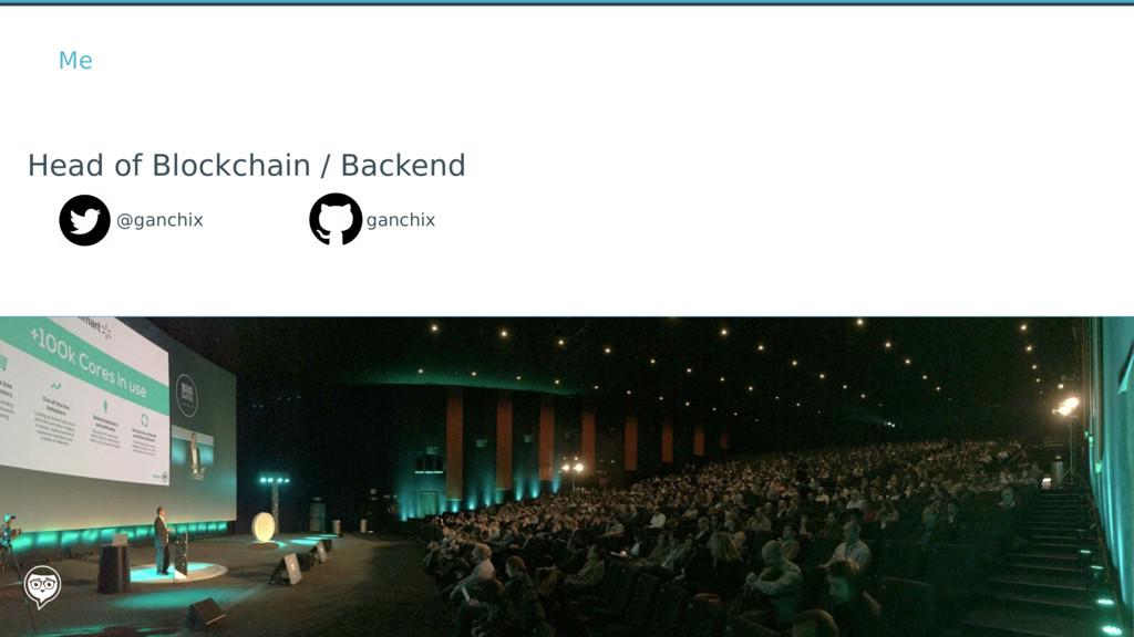 @ganchix Head of Blockchain / Backend Me ganchix