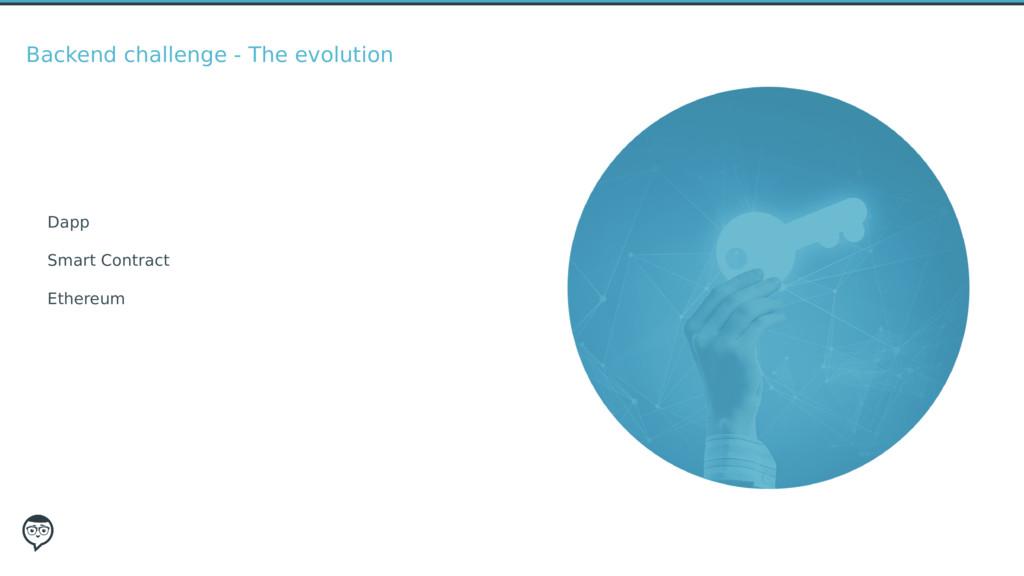 Backend challenge - The evolution Dapp Smart Co...